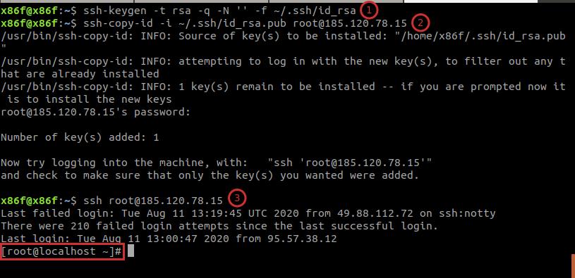 «Подключение по ssh»